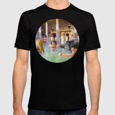 ROMAN BATHS Mens Fitted Tee Black SMALL