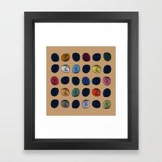 Swirl C16 Framed Art Print