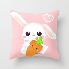 I love you, carrot! Throw Pillow