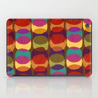 Collage and digital circle pattern iPad Case