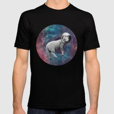 The Space Sheep 2.0 Mens Fitted Tee Black SMALL