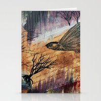 Literary Flying Fish Stationery Cards