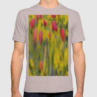 Pastel Summer Flowers  Mens Fitted Tee Cinder SMALL