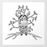 I am one with the tree! Art Print