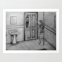 The Skeletal Shining Art Print