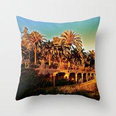 Sunny Barcelona Throw Pillow