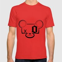 Bear Head Mens Fitted Tee Red SMALL