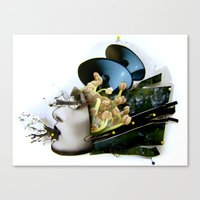 AiVee portrait | Collage Canvas Print
