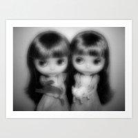 Ghostly Twins Art Print