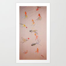 Goldfish Pond Art Print