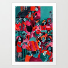 In the mood for hats. Art Print