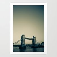 Tower Bridge at dusk Art Print