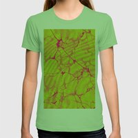 Marble Splash Womens Fitted Tee Grass SMALL