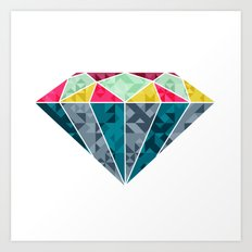 Diamond Geometric Art Print