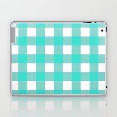 Gingham (Turquoise/White) Laptop & iPad Skin