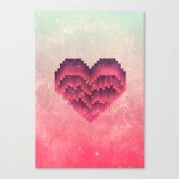 Interstellar Heart IV Canvas Print