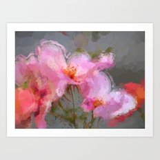 Oriental bloom Art Print
