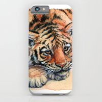 Resting Tiger Cub 896 iPhone 6 Slim Case