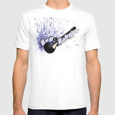 Hey Baby Guitar Mens Fitted Tee White SMALL