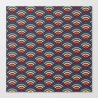 rainbowaves pattern Canvas Print