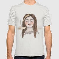 Anna Banana Mens Fitted Tee Silver SMALL