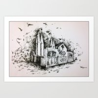 Fantastic architecture Art Print