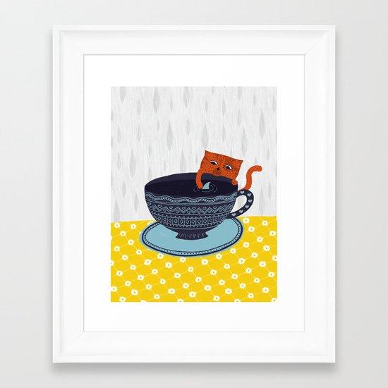 Shark Tea Framed Art Print