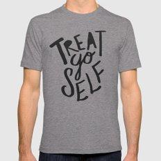 Treat Yo Self Mens Fitted Tee Tri-Grey SMALL