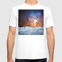 Cosmic Winter Landscape Mens Fitted Tee White SMALL