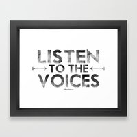 Voices Framed Art Print
