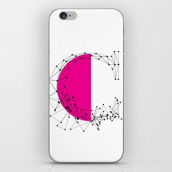 C (abstract geometrical type) iPhone & iPod Skin