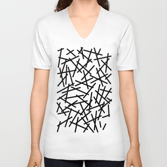 Kerpluk Black on White V-neck T-shirt