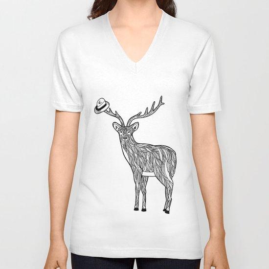 Deer V-neck T-shirt