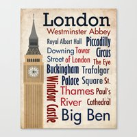 Travel - London Canvas Print