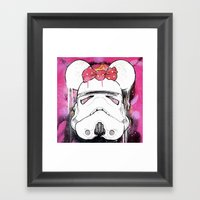 MINI TROOPER — On Pink Framed Art Print