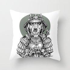 The Samurai Throw Pillow