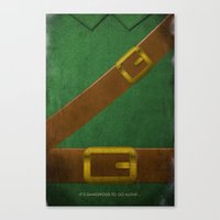 Video Game Poster: Adventurer Canvas Print