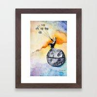 Petit Darth Framed Art Print