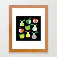 Apples And Pears / Geome… Framed Art Print