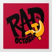 Rad October Canvas Print