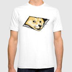Ceiling Doge Mens Fitted Tee White SMALL