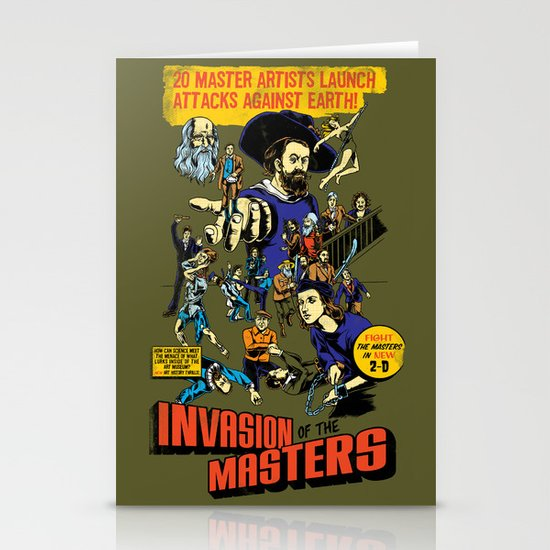 Invasion of the Masters! Stationery Card
