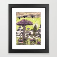 無口森 Framed Art Print