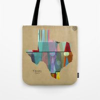 Texas state map Tote Bag