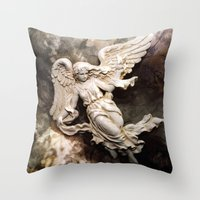 Ethereal Angel Art Throw Pillow