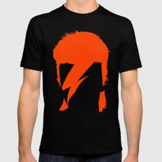 BOWIE Black Mens Fitted Tee SMALL