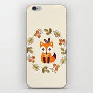 LITTLE FOX WITH AUTUMN B… iPhone & iPod Skin