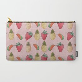 Carry-All Pouch - watermelon, pineapple, and Strawberry  - franciscomffonseca