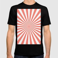 Starburst (Salmon/White) Mens Fitted Tee Black SMALL