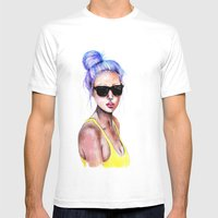 Little Blue Bun Mens Fitted Tee White SMALL